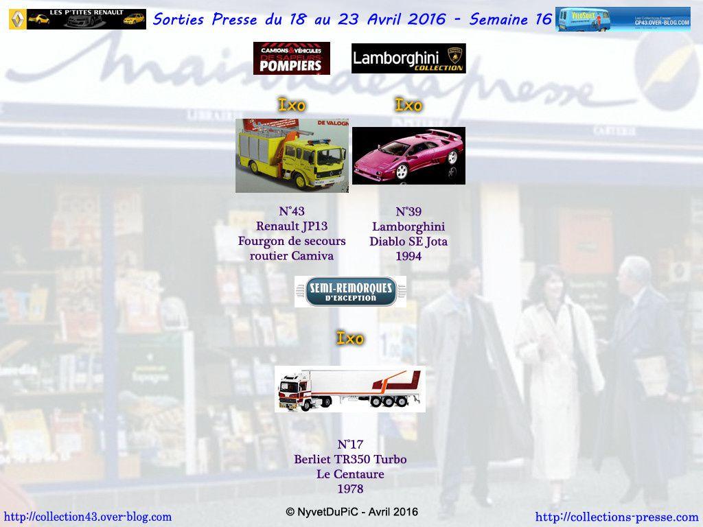 Sorties Semaine 2016-16