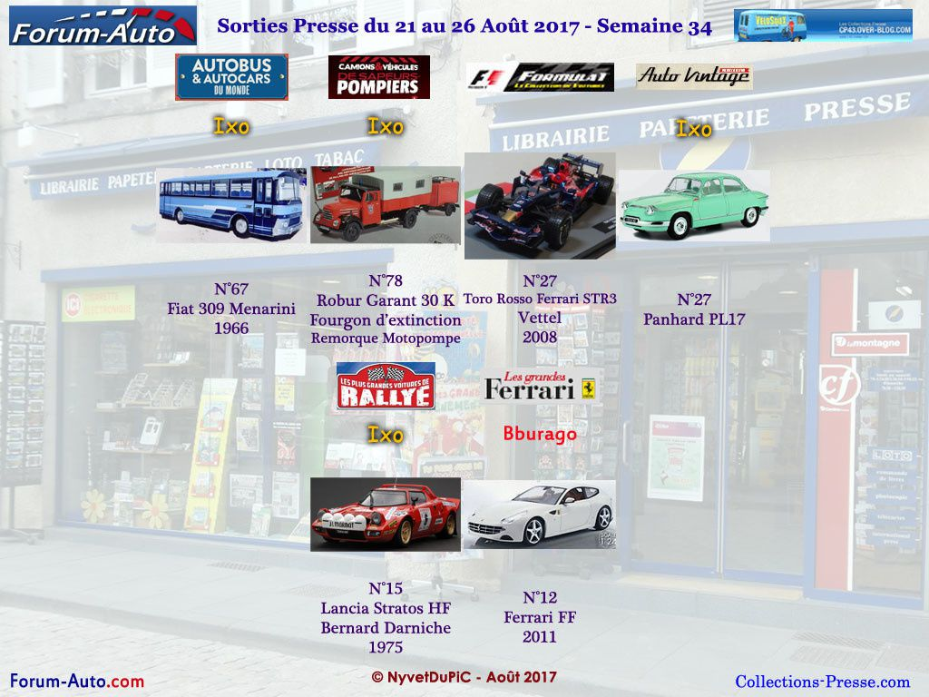 Sorties Semaine 2017-34