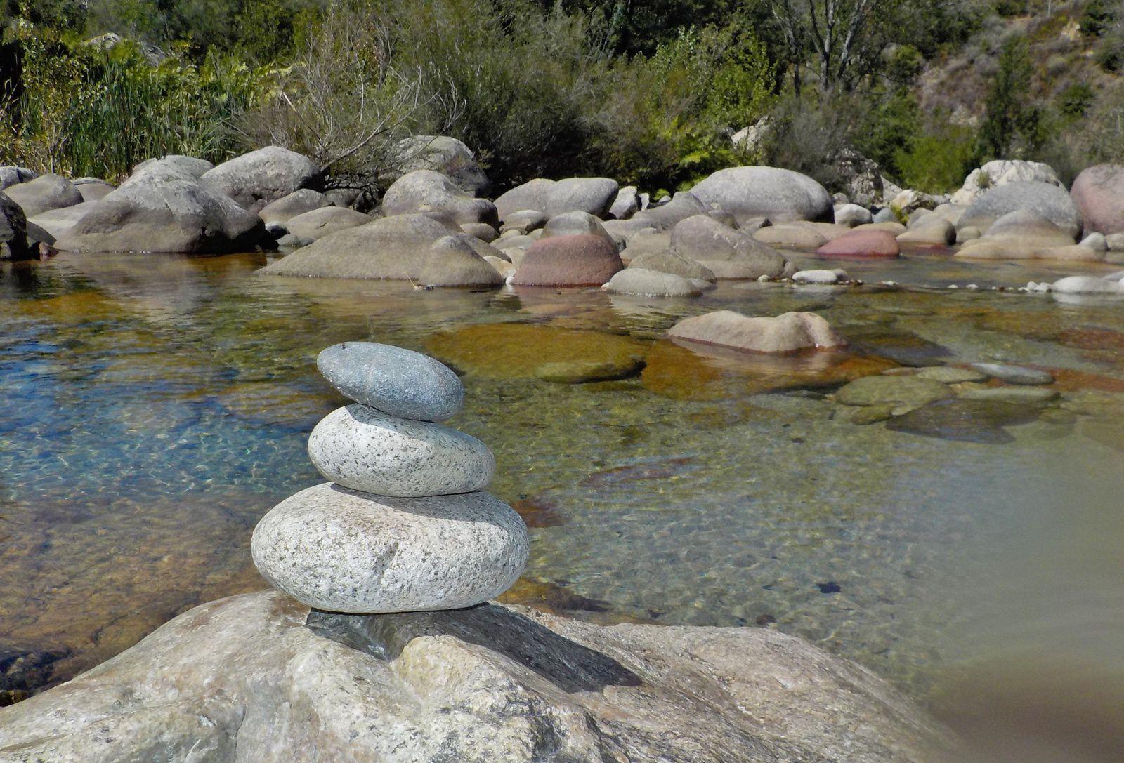 Rivière Gravona. Corse du Sud.