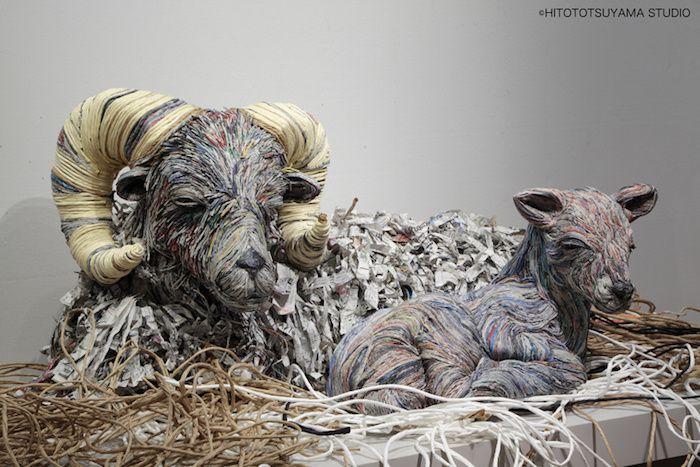 Chie Hitotsuyama artiste du papier