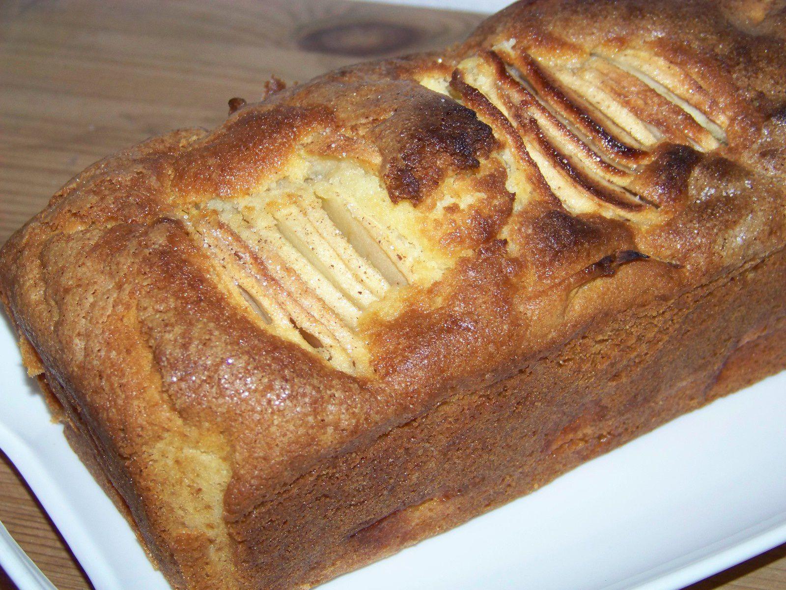 Cake aux pommes.