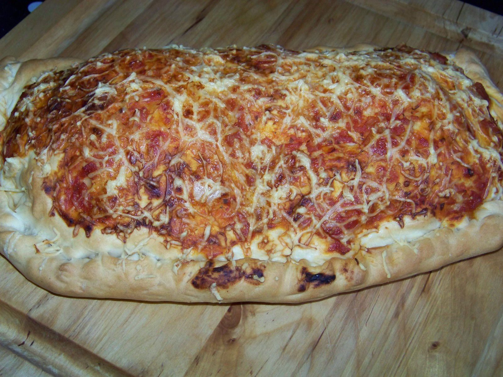 Pizza calzone.
