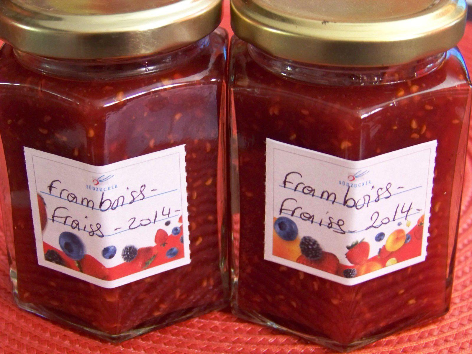 Confiture fraises-framboises.