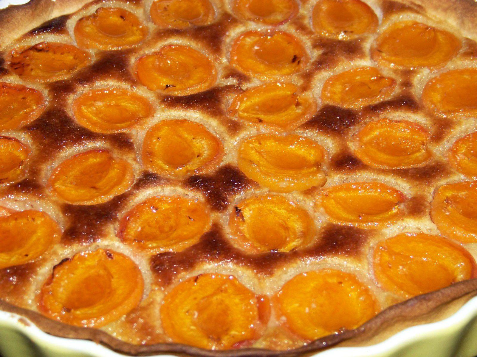 Tarte à l'abricots.