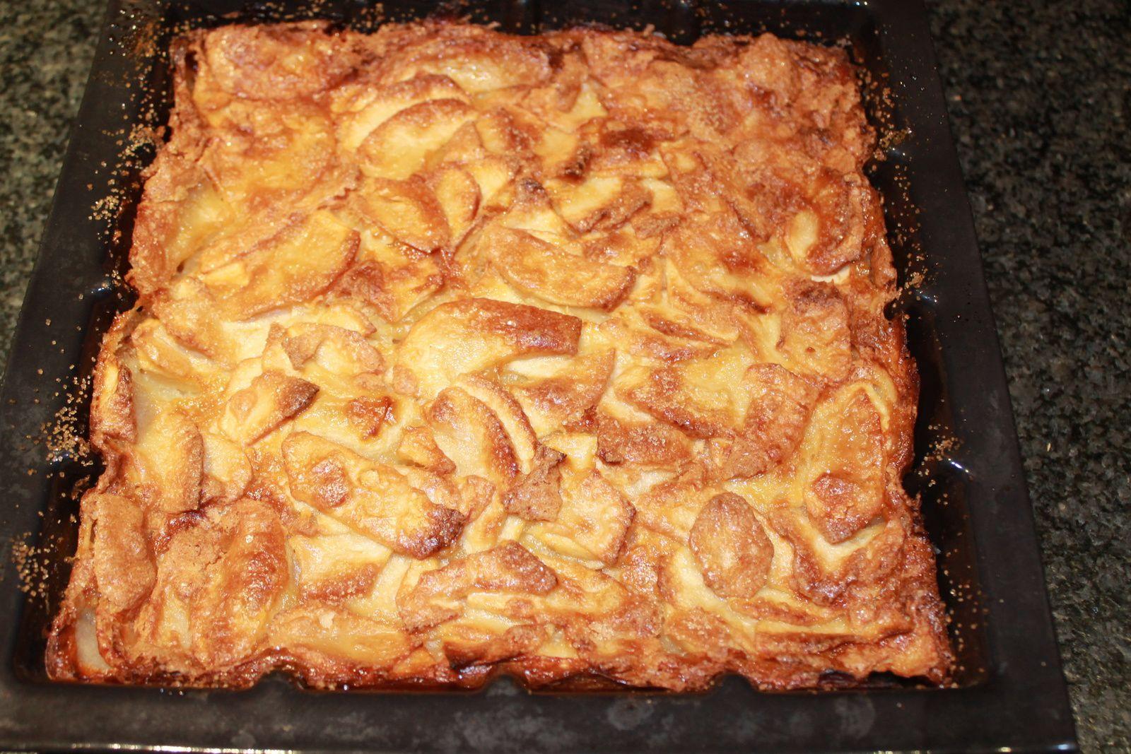 Gâteau invisible aux pommes.