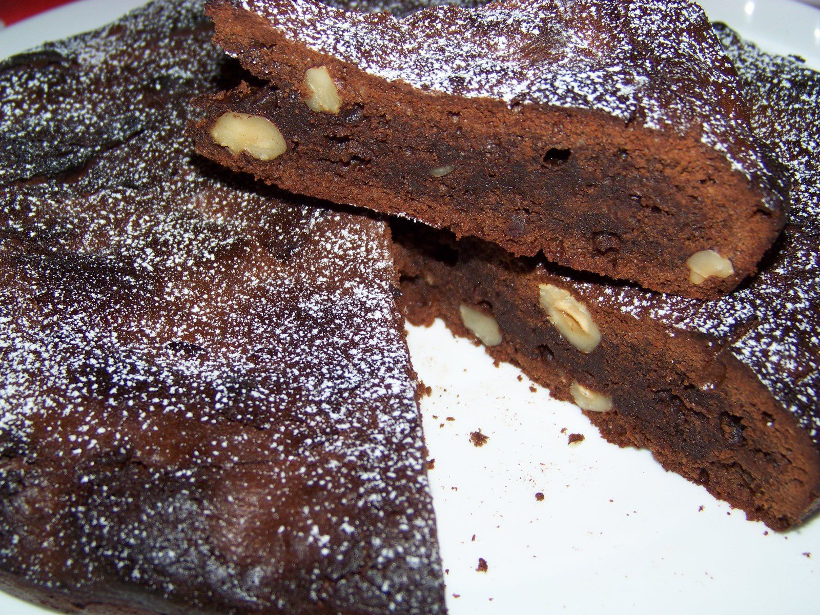 Brownie aux noisettes.