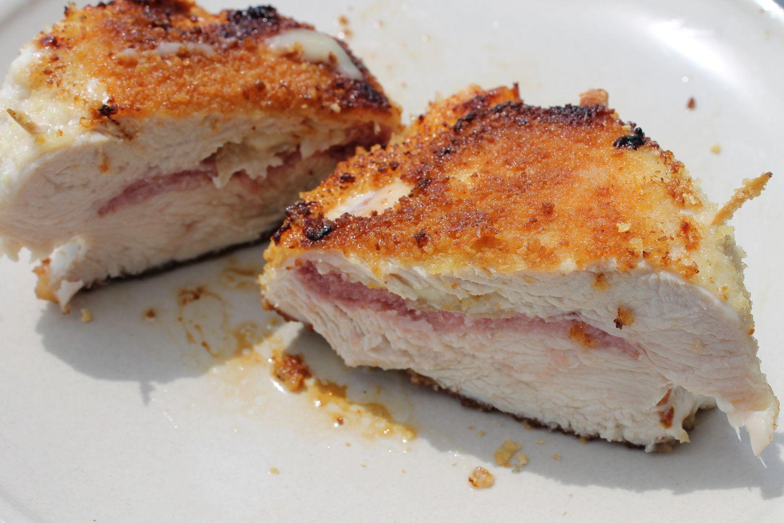 Cordon bleu de dinde au bacon.