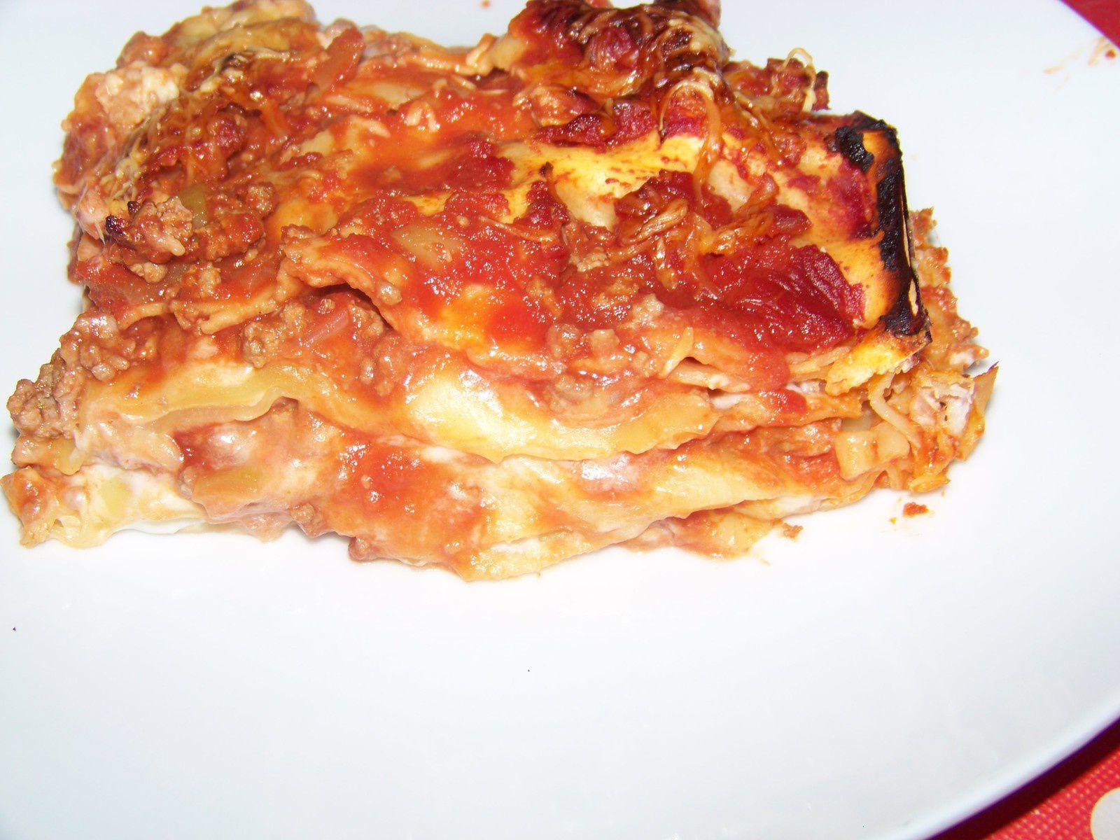 Lasagnes boeuf-courgettes.