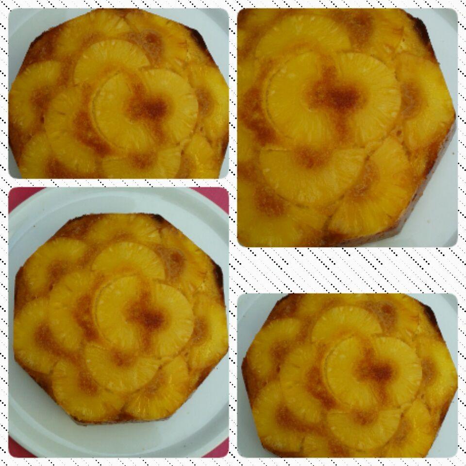 Gâteau renversé à l'ananas.