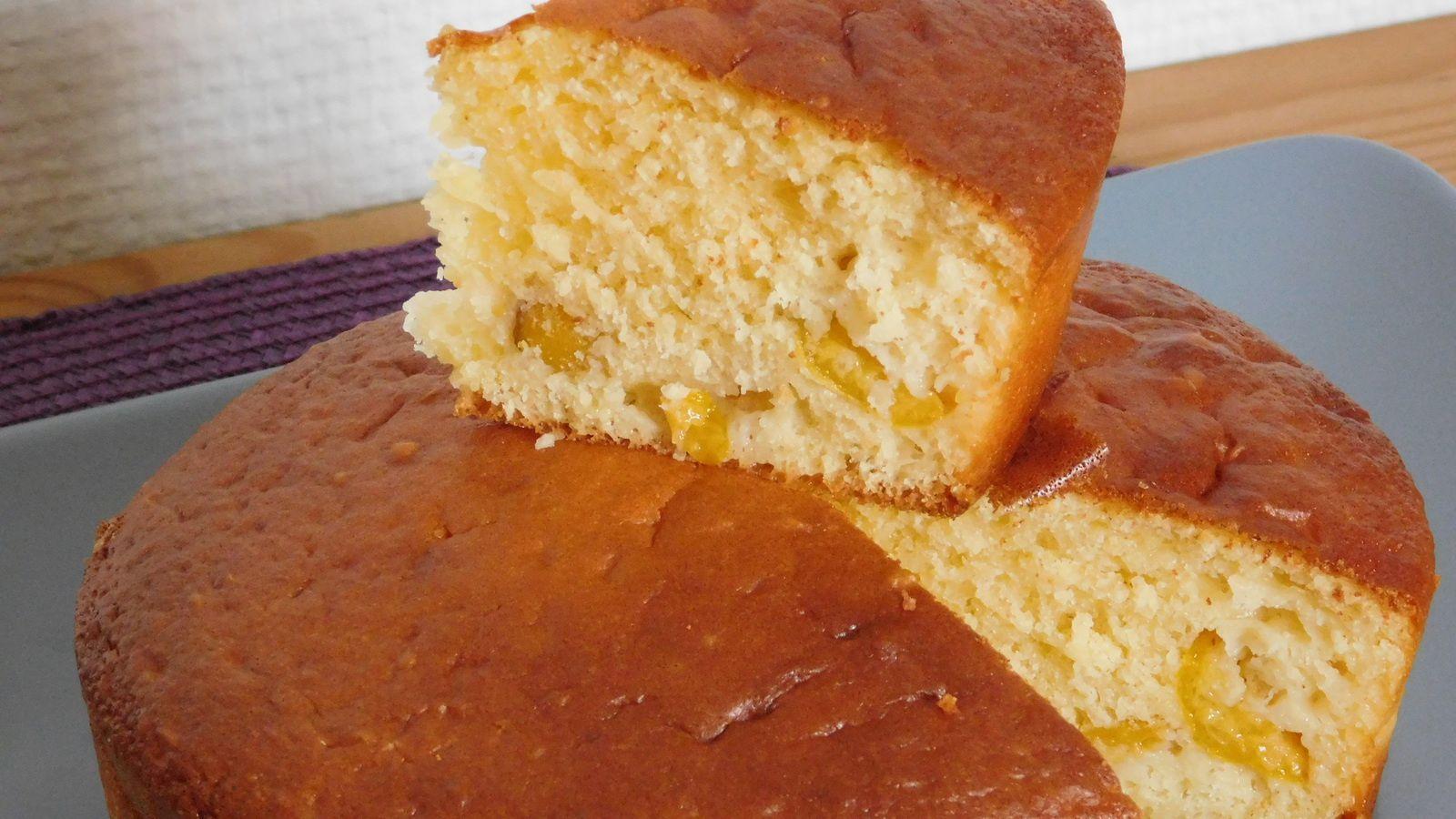 Gâteau vosgien aux mirabelles.