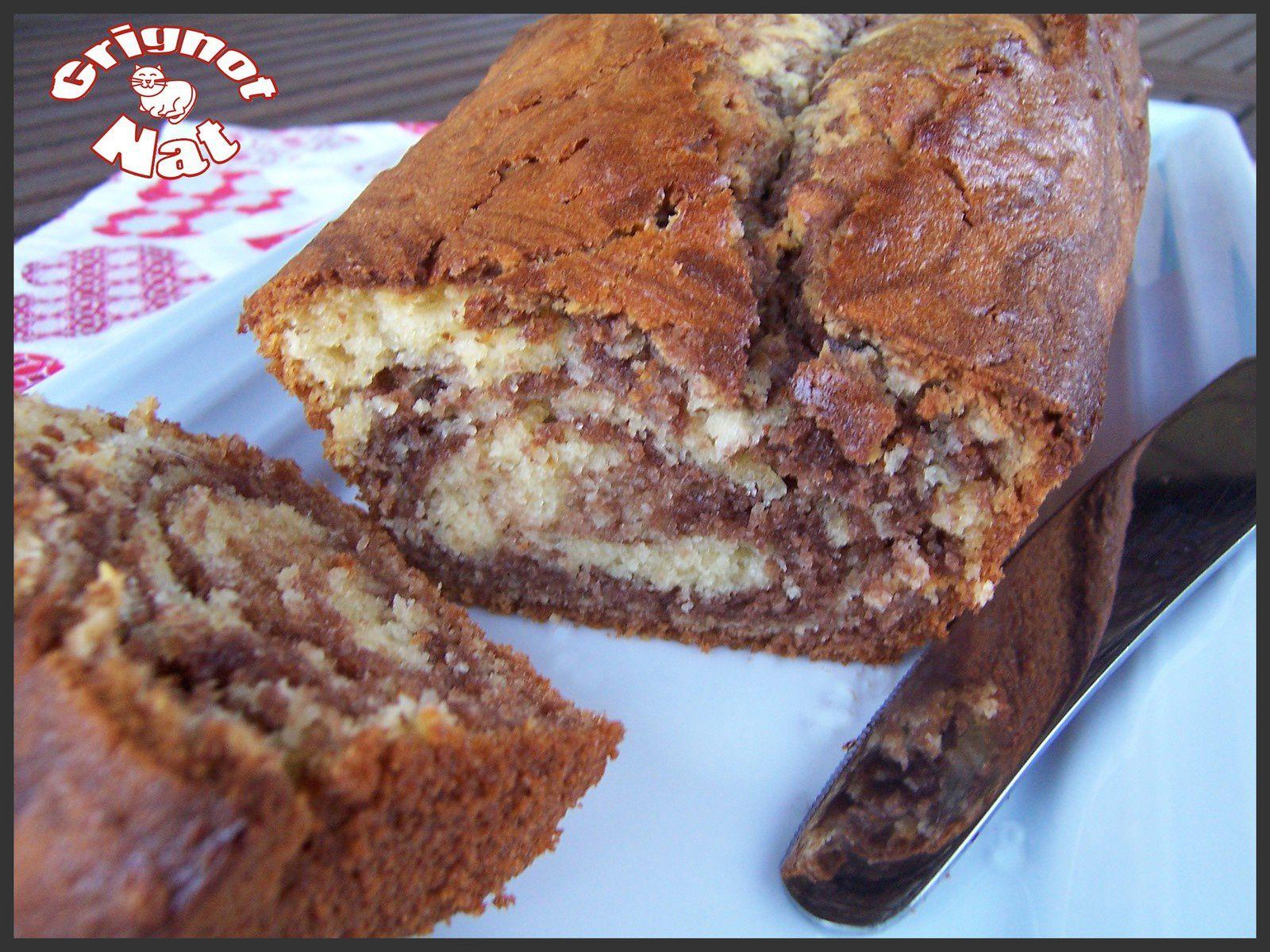 cake marbré à la danette