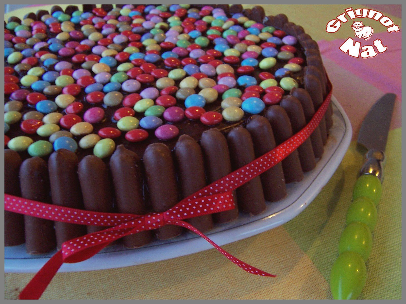 deco gateau smarties