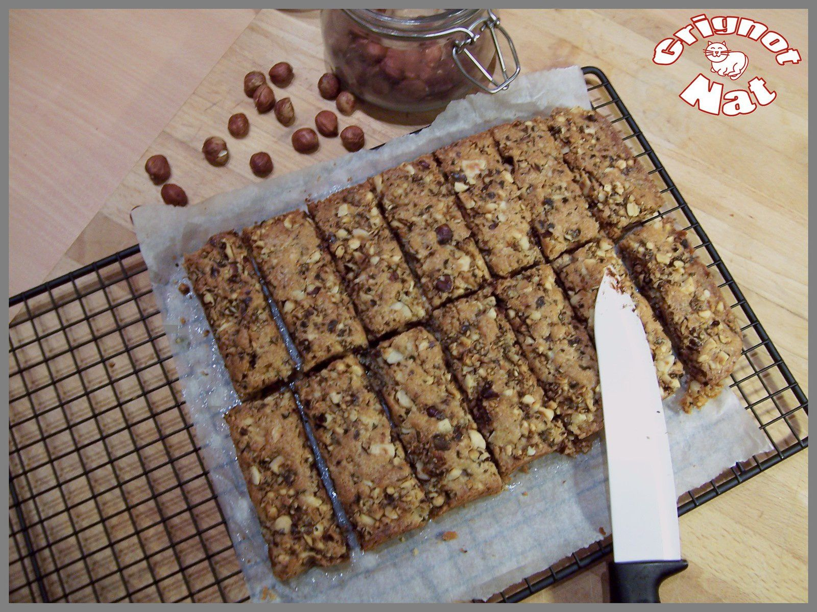 Cookie bars chocolat - noisette