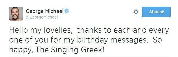 George Michael Remercie Ses Fans Sur Twitter !!