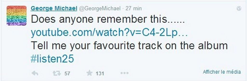 George Michael Today And Twitter !!