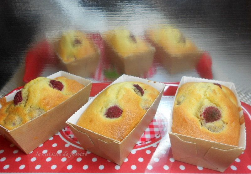 petits cake aux framboises