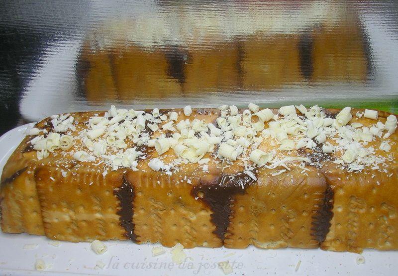 gâteau au chocolat et petits beurre