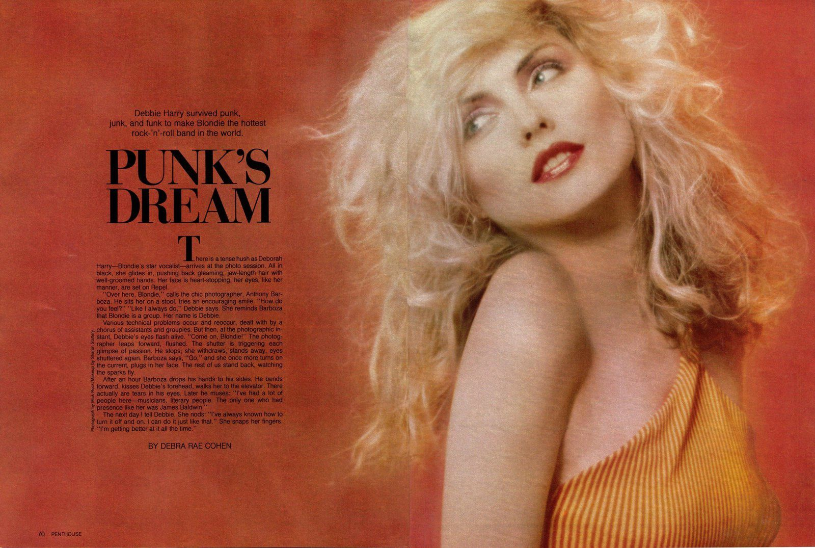 Debbie Harry, the singer of Blondie, 1980 - US Penthouse February