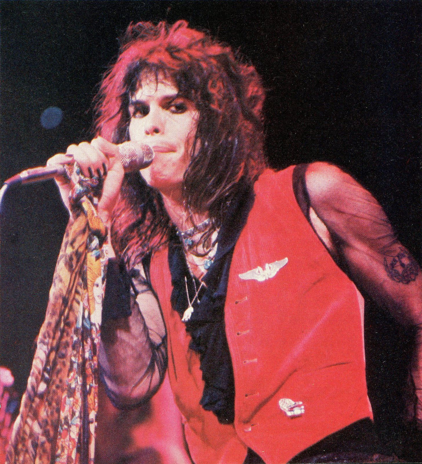Steven Tyler - 1981 - on stage