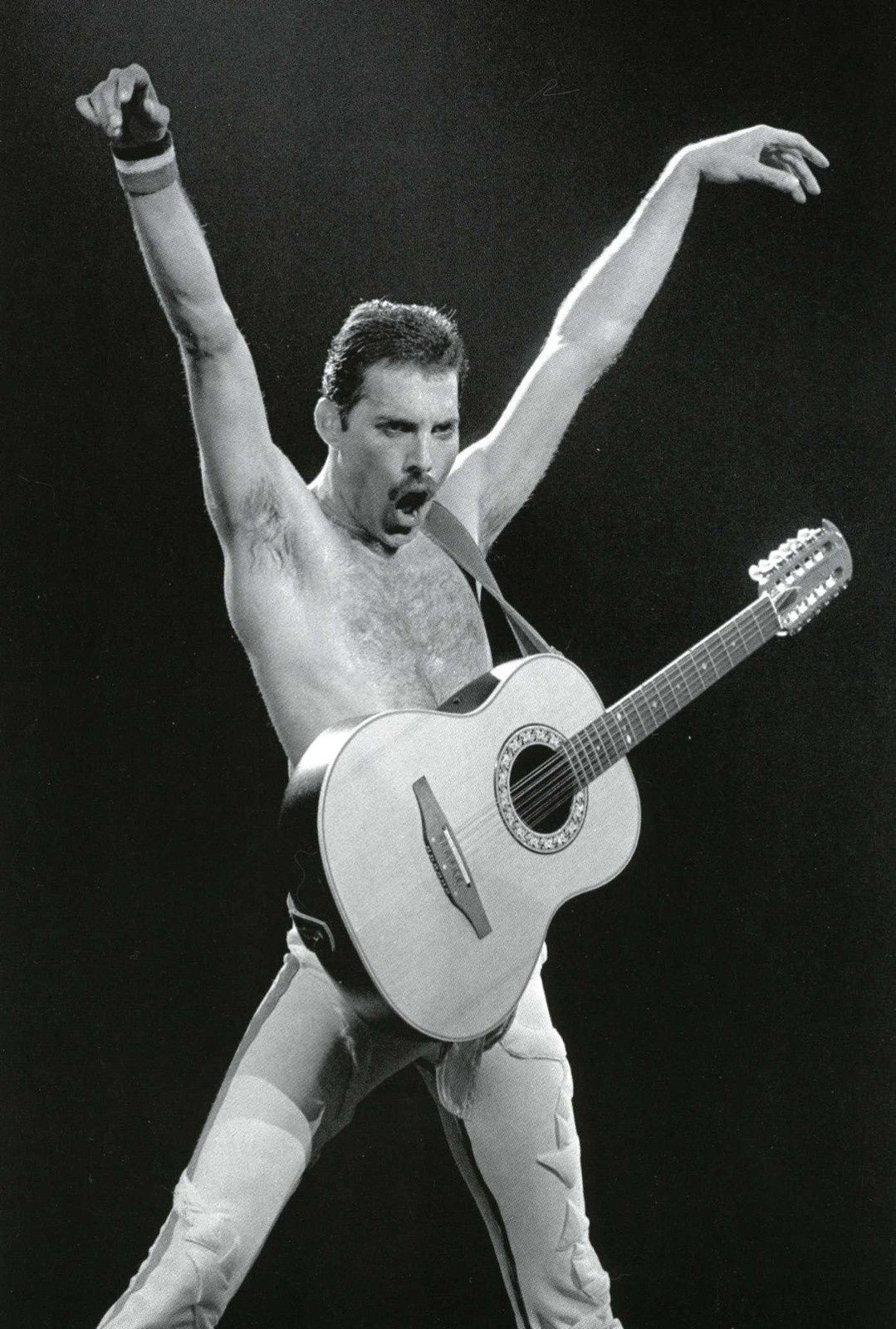 Freddie Mercury - in the late of the 80's