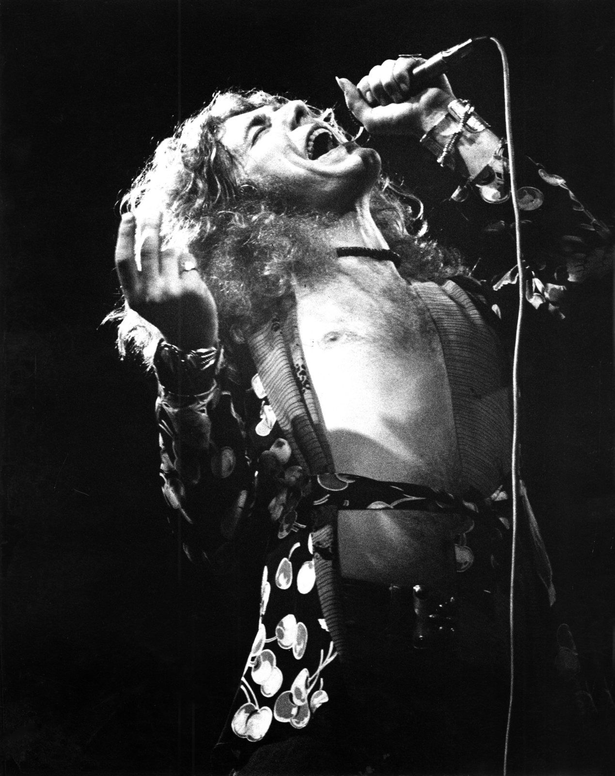 Robert Plant - on stage in Germany in March 1973 - Getty image