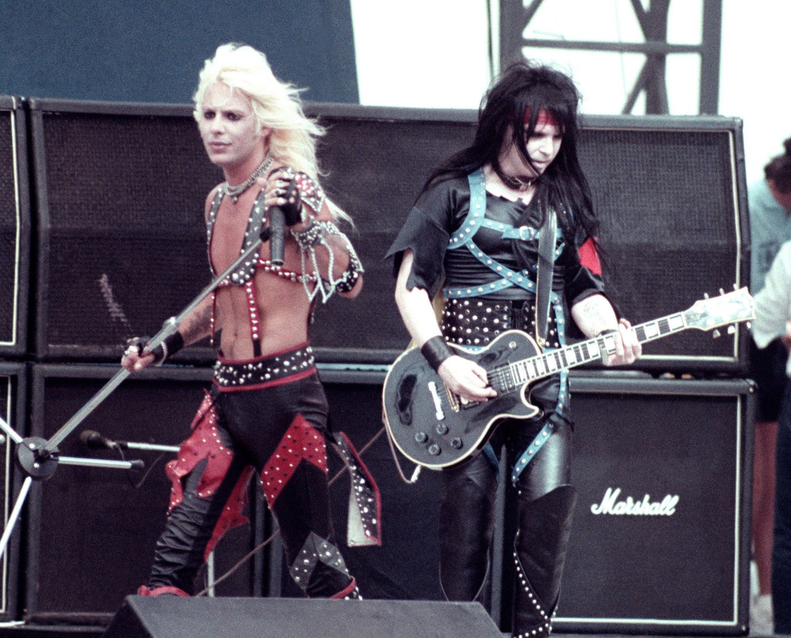 Mick Mars - 1984 - Mötley Crüe, Vince Neil - Monster of rock Castle Donington (England)