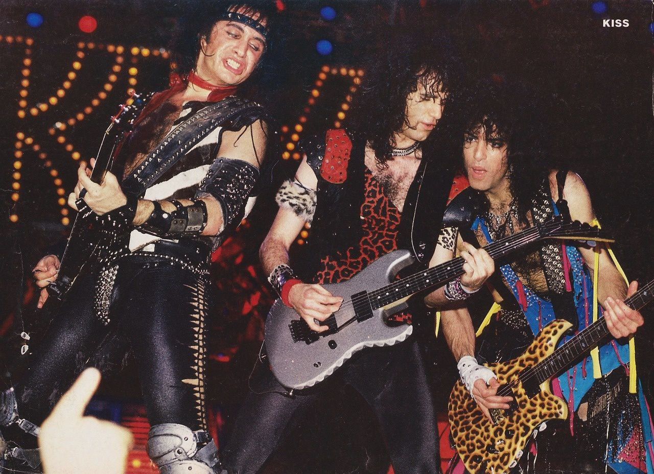 Paul Stanley - March 29, 1985 - Kiss - Gene Simmons, Bruce Kulick and Paul Stanley - Animalize Tour