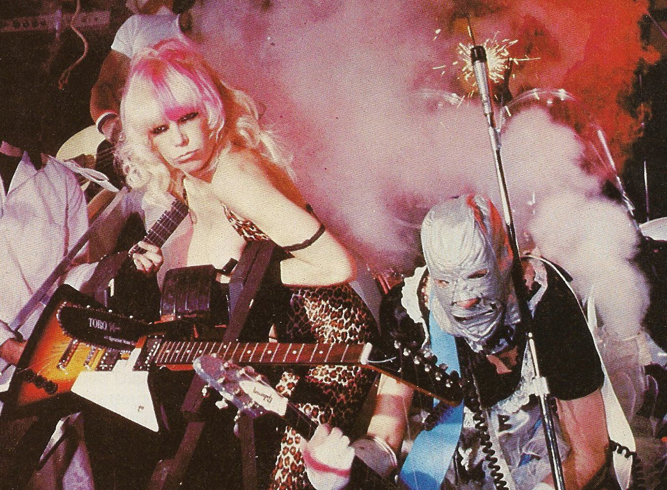 Wendy O. Williams & The Plasmatics Chain Sawing A Guitar In Half