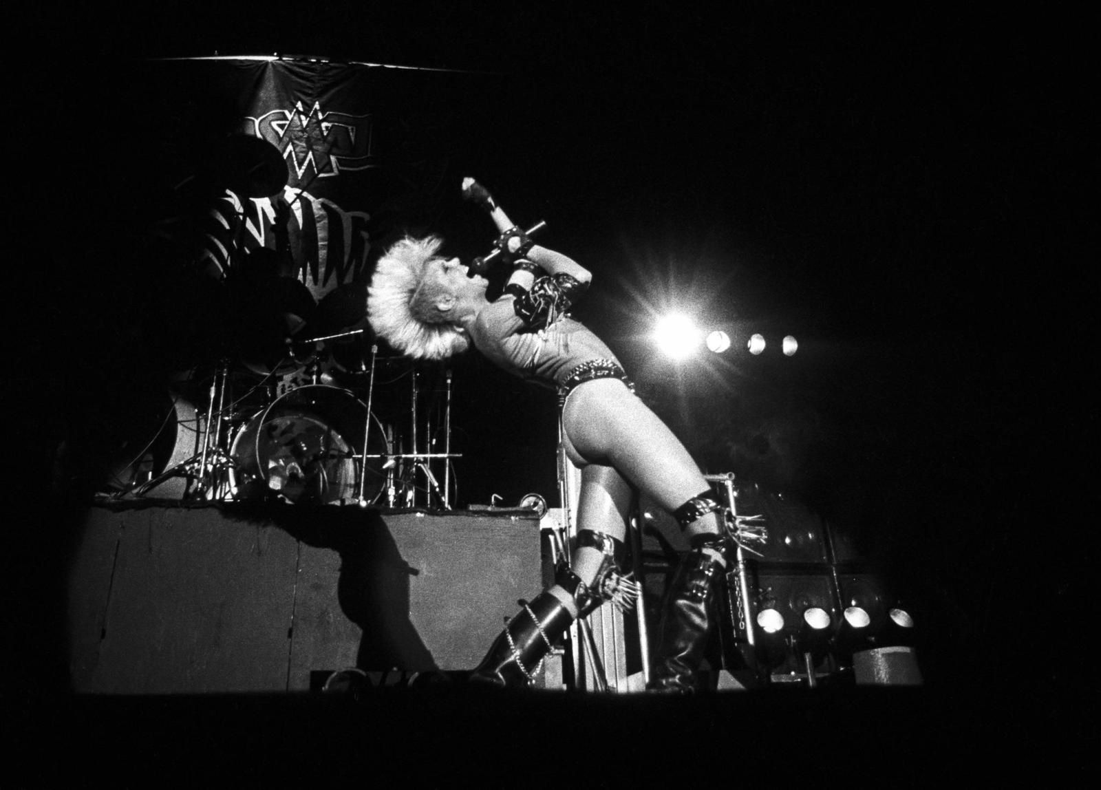 Wendy O. Williams - Mohawk on stage