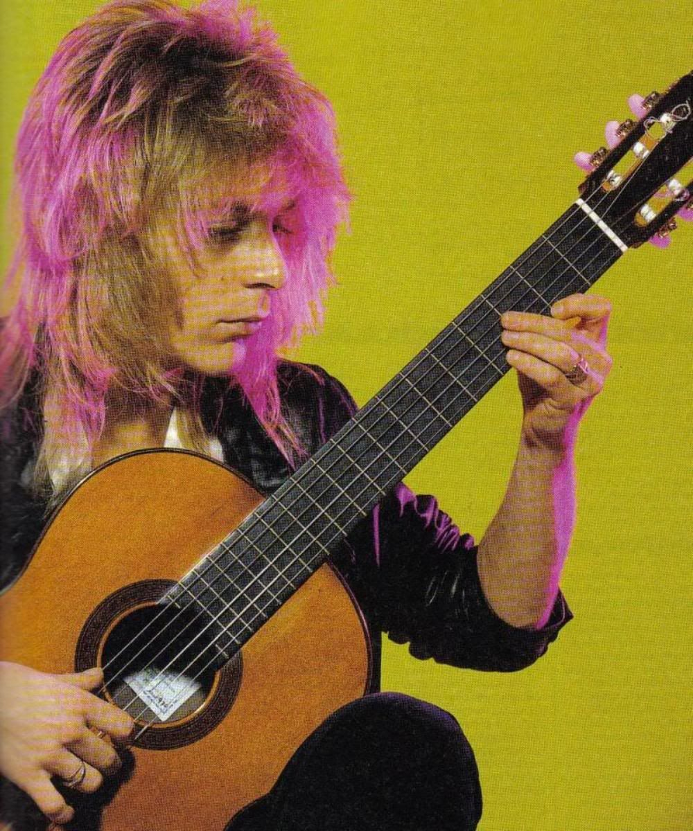Randy Rhoads, a devoted student of classical guitar...