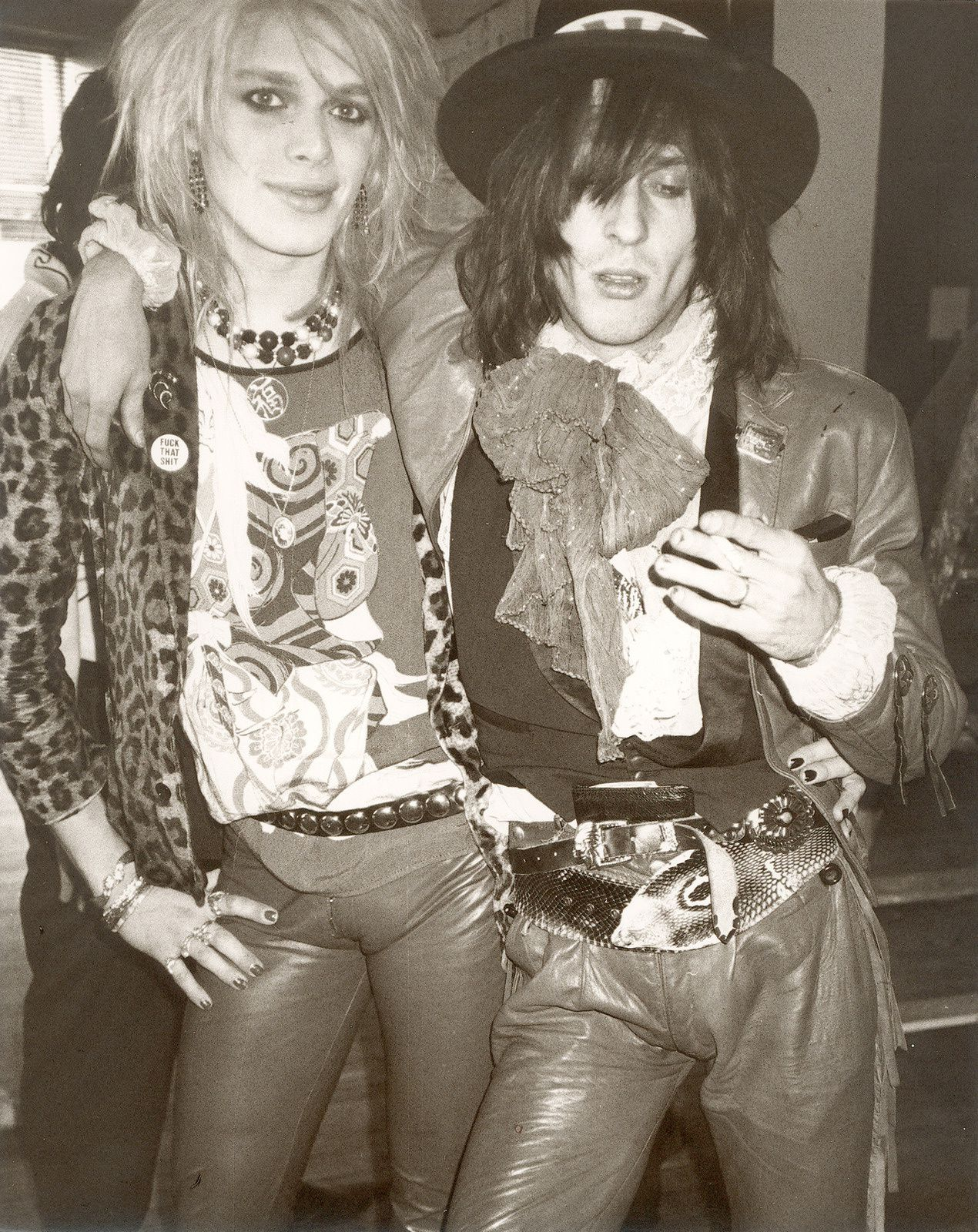 Michael Monroe and Andy McCoy (Hanoi Rocks) by Andy Warhol