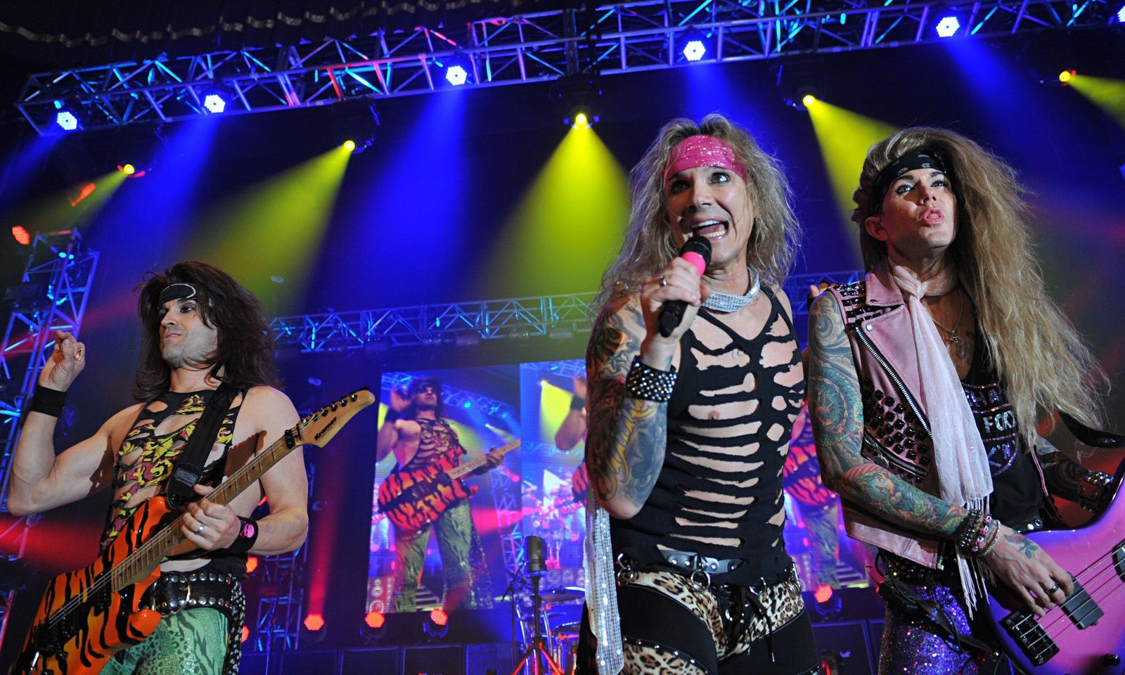 Michael Starr - Steel Panther - Photograph Neil H Kitson/Getty