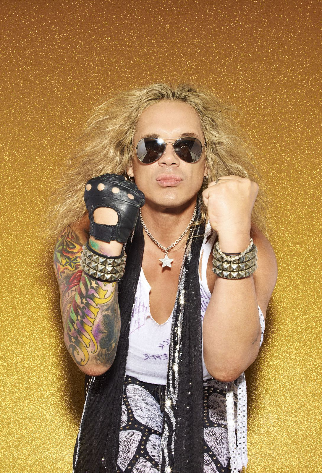 Michael Starr - September 2010 - Steel Panther - Photo by F. Scott Schafer