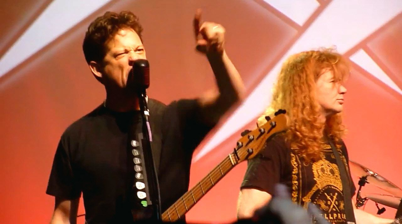 Dave Mustaine and Jason Newstead - Metallica celebrated its 30th anniversary by playing four shows at the Fillmore in San Francisco, December 2011.