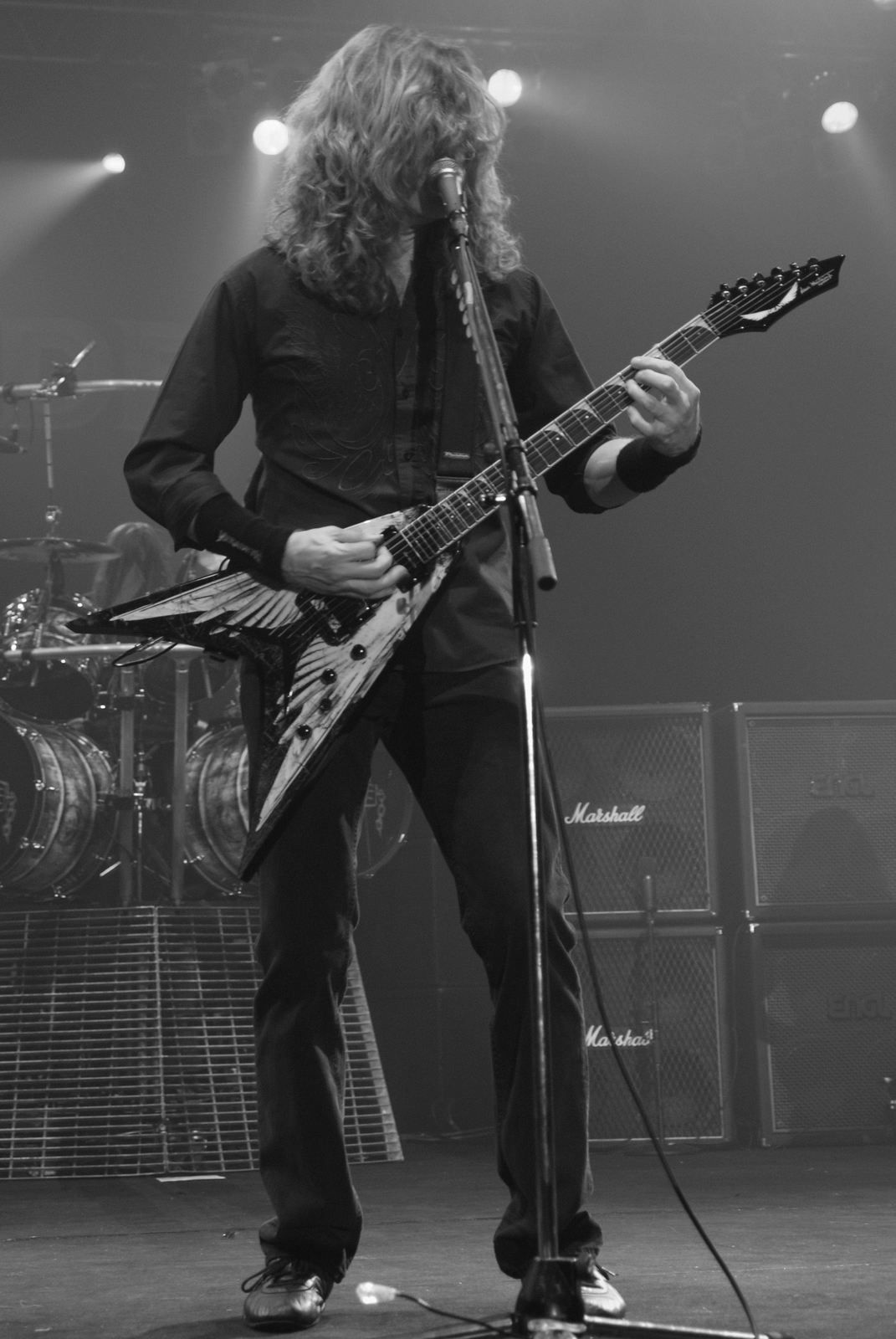 Dave Mustaine from Megadeth during Metalmania, 2008