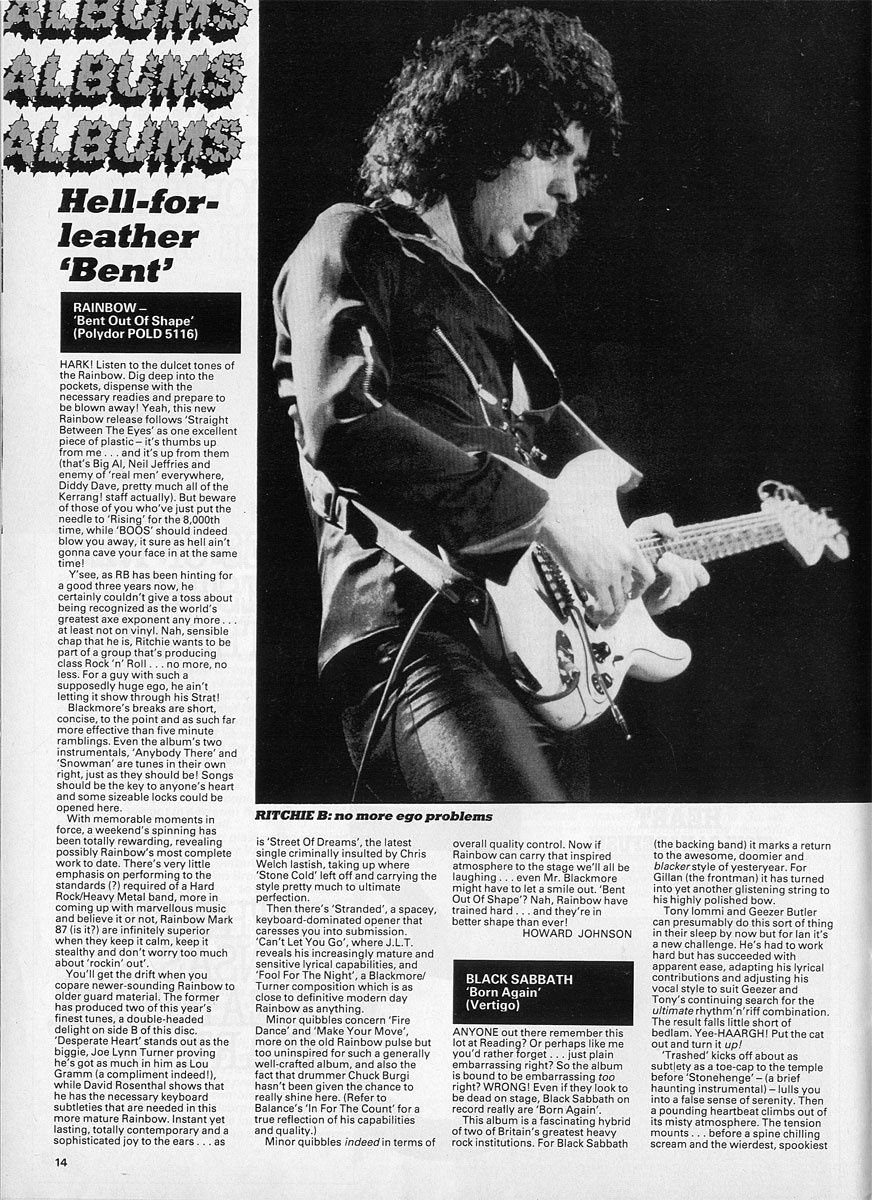 Ritchie Blackmore - Kerrang! No.51 – Sept 22 – Oct 5, 1983