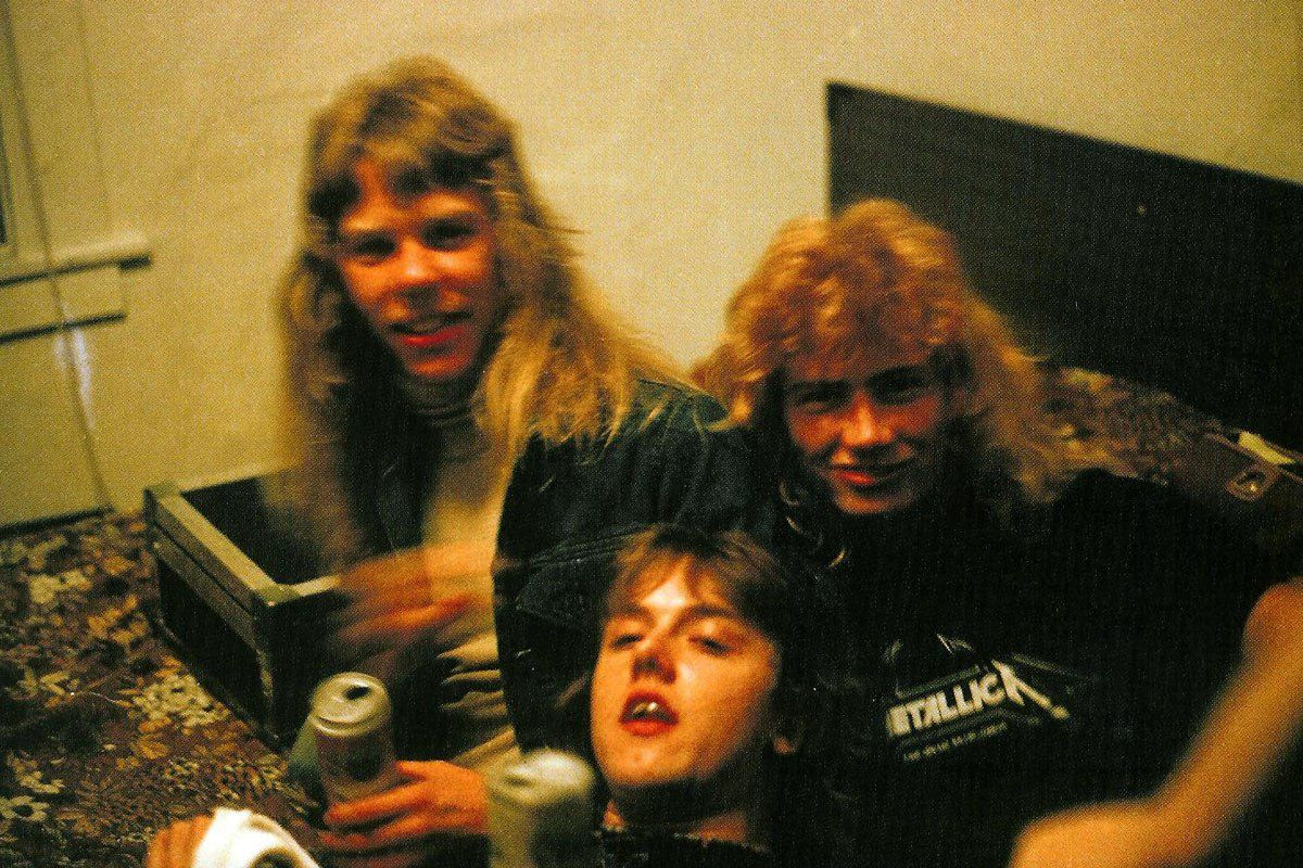 James Hetfield, Dave Mustaine and Lars Ulrich, 1982 - Metallica