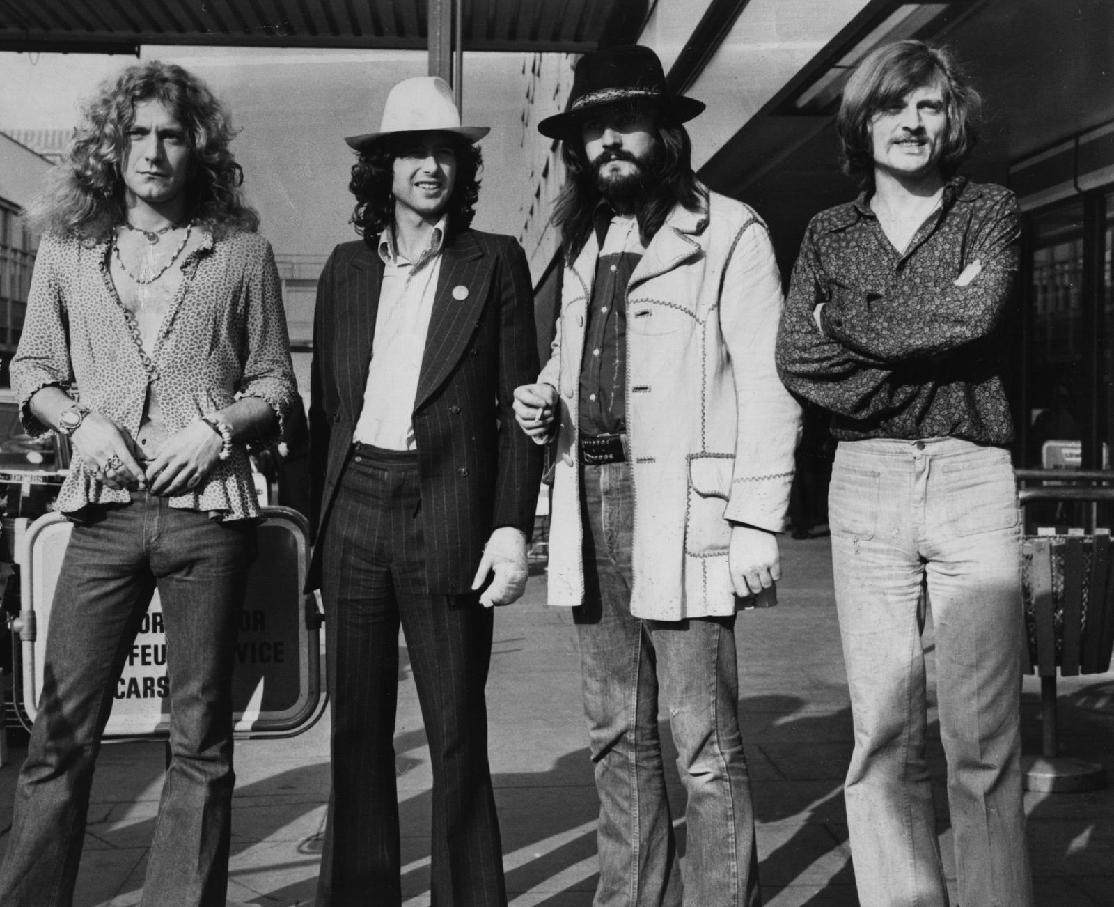 John Bonham, Jimmy Page, Robert Plant and John Paul Jones of Led Zeppelin - credit: Getty images