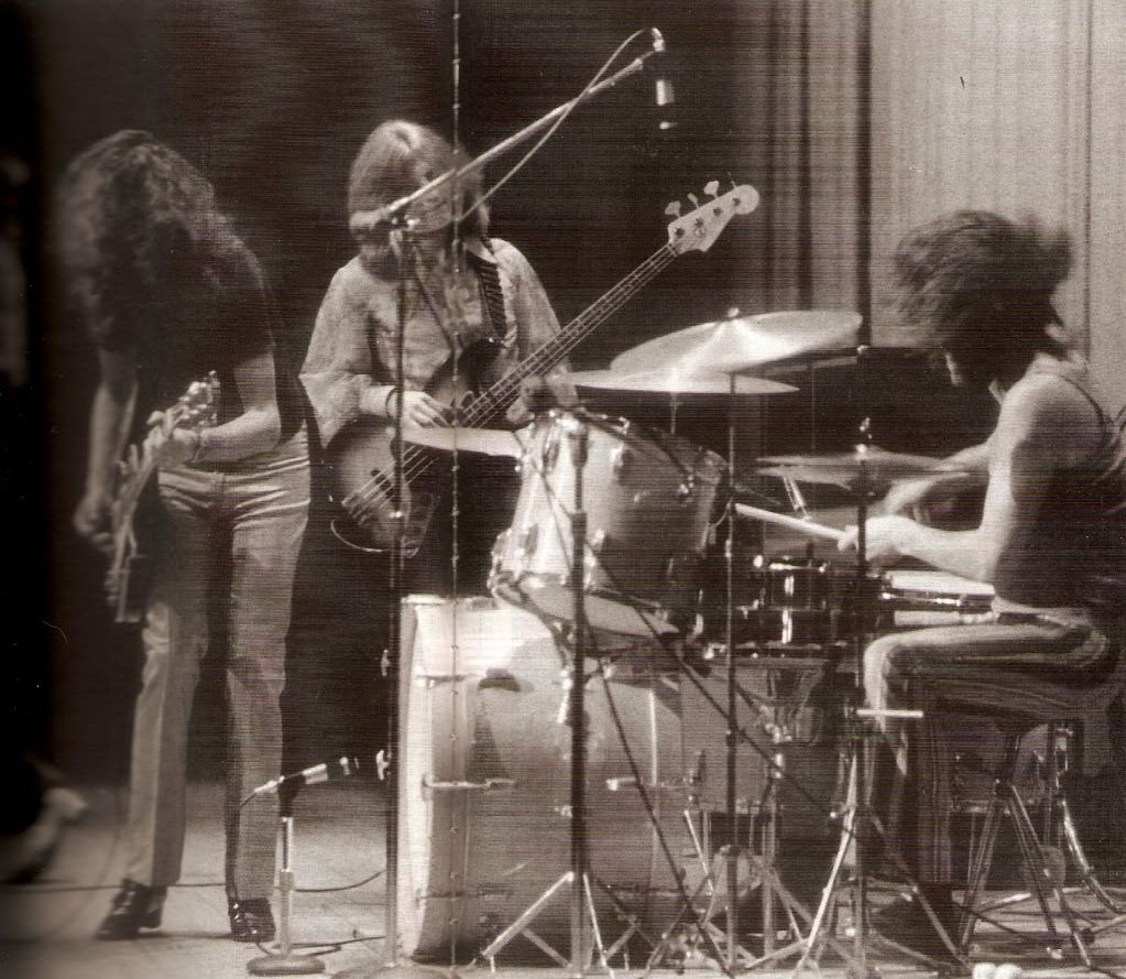 John Bonham, Jimmy Page and Robert Plant of Led Zeppelin