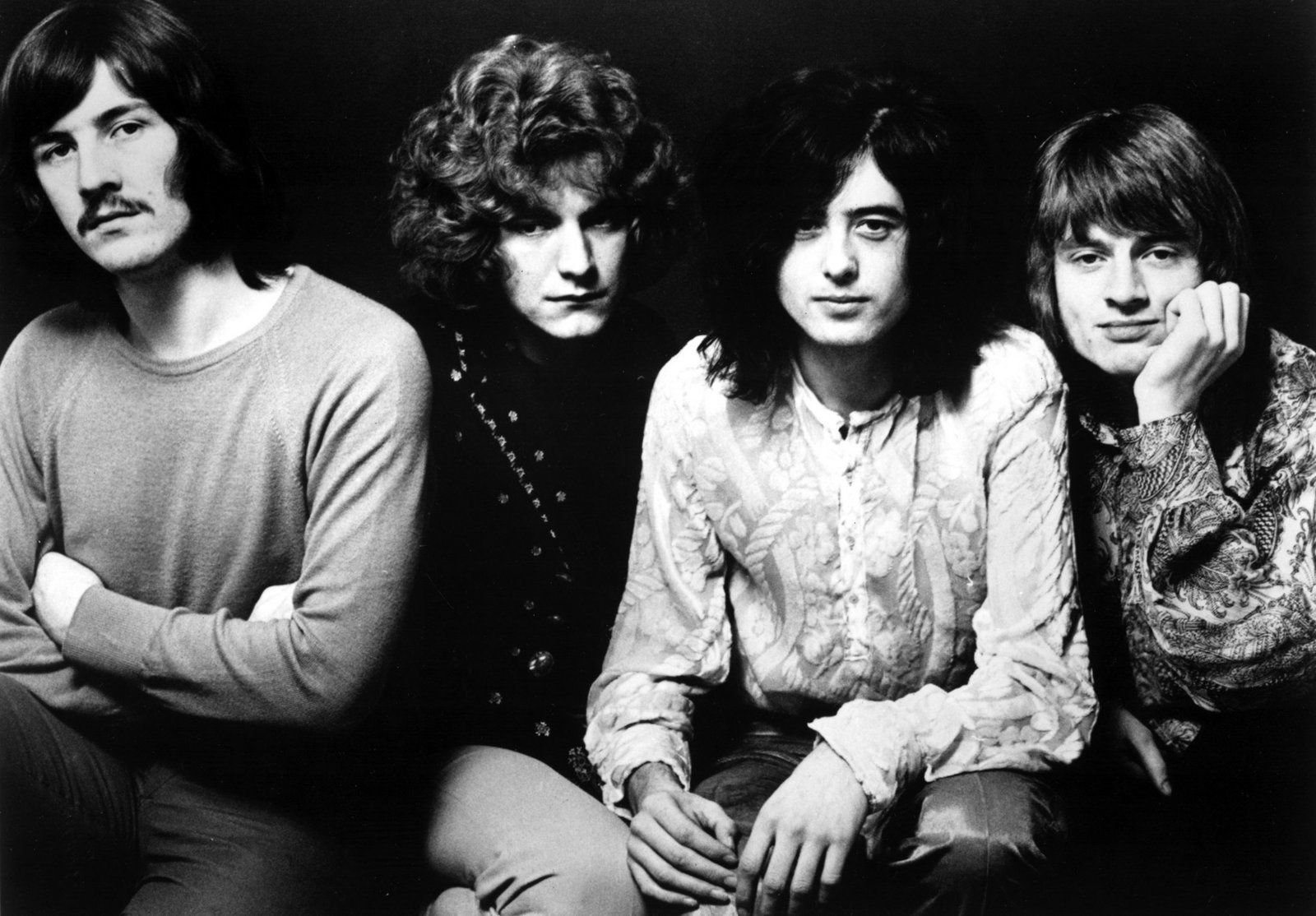 "led-zeppelin The late, great John ""Bonzo"" Bonham, Robert Plant, Jimmy Page, and John Paul Jones"