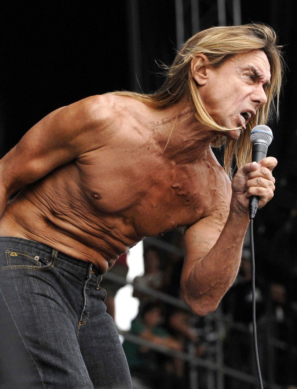 Iggy Pop of the band Iggy and the Stooges performs at Virgin Mobile Festival in Baltimore in this August 10, 2008