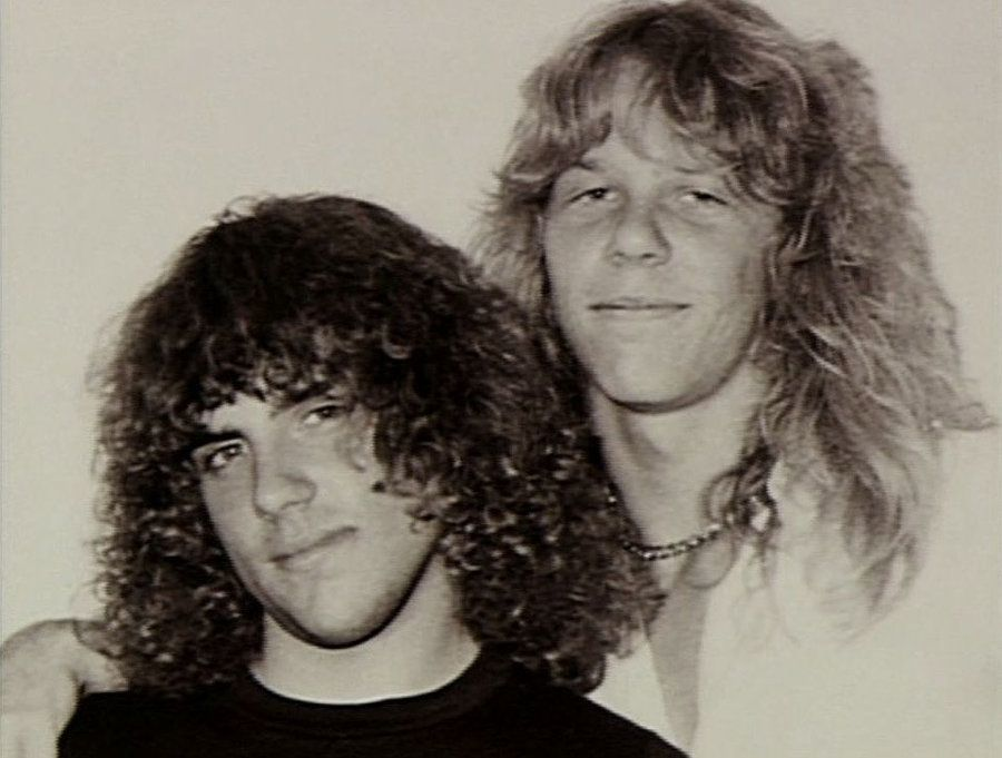 Ron McGovney and james Hetfield