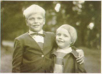 Barbara Schenker and her brother Michael, the early years