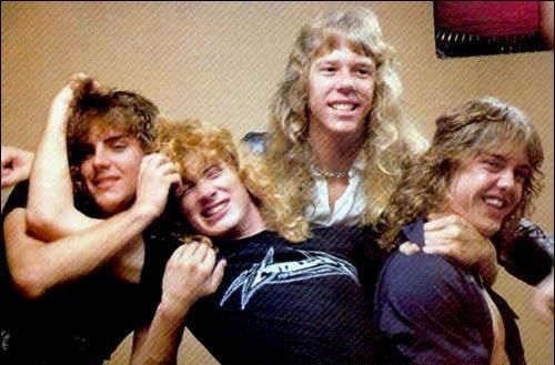 Ron McGovney, Lars Ulrich, James Hetfield & Dave Mustaine - Metallica, the early years