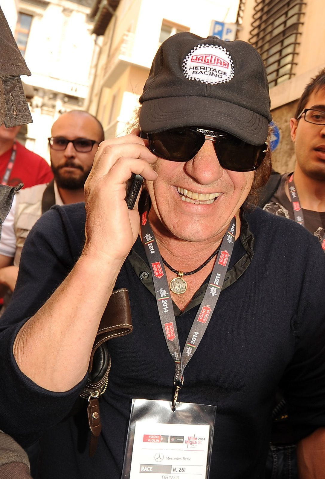 BRESCIA, ITALY - MAY 15 Brian Johnson attends Mille Miglia 2014, 1000 Miles Historic Road Race on May 15, 2014 in Brescia, Italy Photo by Pier Marco Tacca - Getty Images