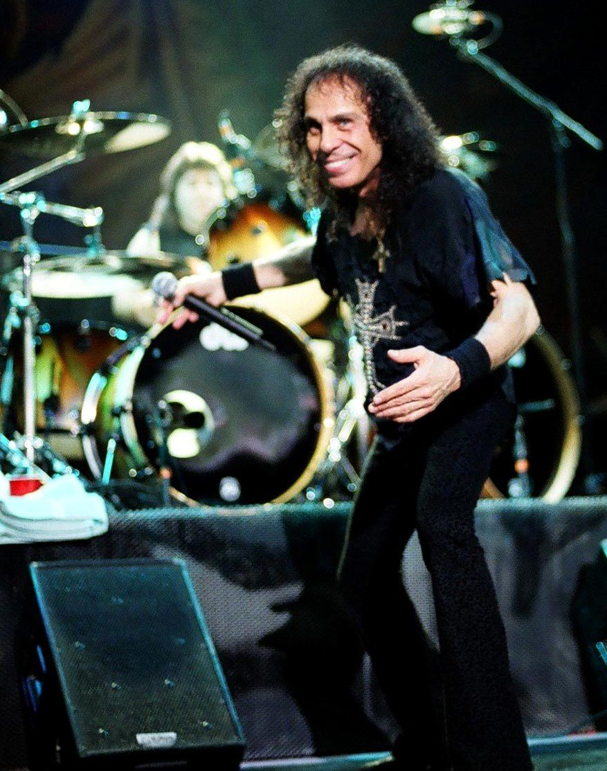 Ronnie James Dio on stage