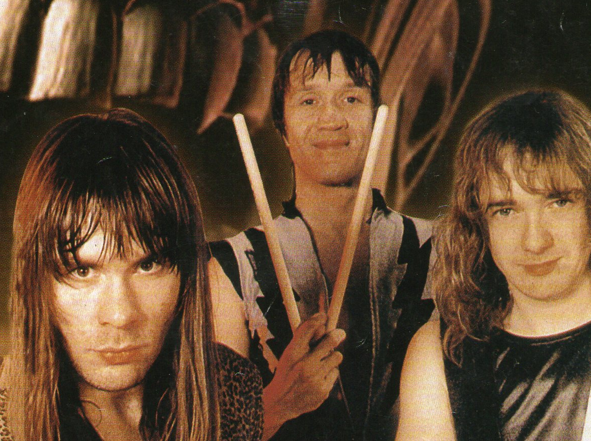 Nicko McBrain, Bruce Dickinson, Adrian Smith (Iron Maiden)
