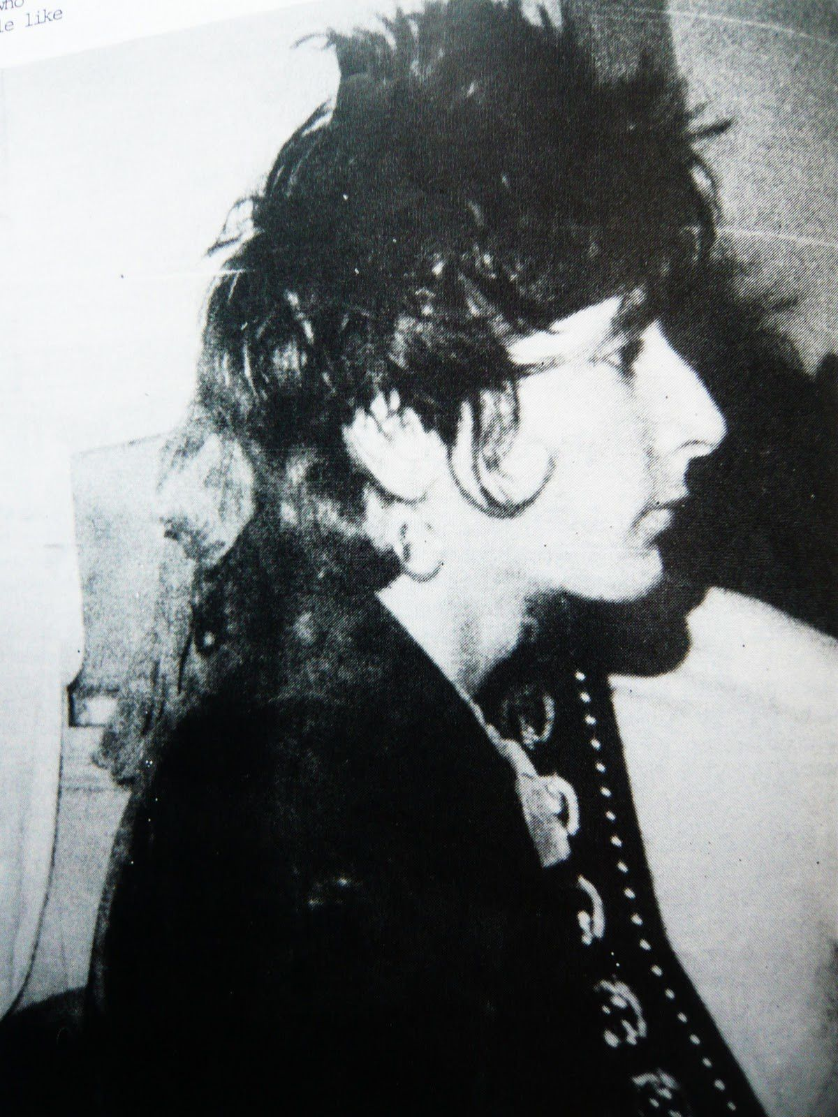 Johnny Thunders, 1984 - credit: Nina Antonia