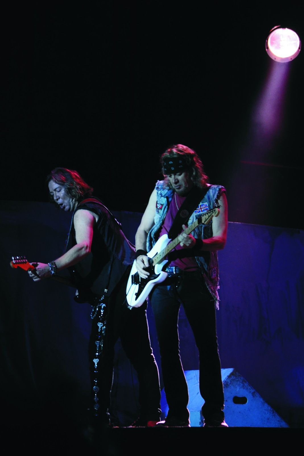 Adrian Smith and Dave Murray, Iron Maiden in Paraguay (2013) - credit: Rocio Cespedes