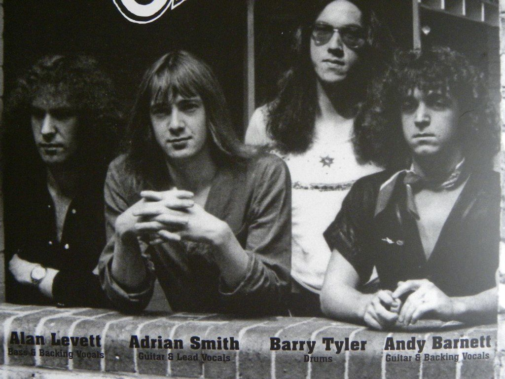 Another lineup of Urchin late seventies: Alan Levett - Bass & Backing vocals, Adrian Smith - Guitar & Lead vocal, Barry Tyler - Drums and Andy Barnett - Vocals